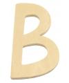 Houten letter b 6 cm