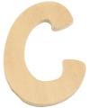 Houten letter c 6 cm