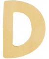 Houten letter d 6 cm