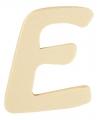 Houten letter e 6 cm