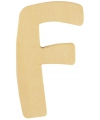 Houten letter f 6 cm