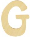 Houten letter g 6 cm