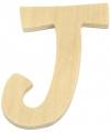 Houten letter j 6 cm