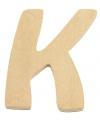 Houten letter k 6 cm