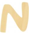 Houten letter n 6 cm