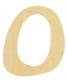 Houten letter o 6 cm