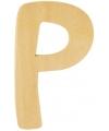 Houten letter p 6 cm