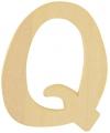 Houten letter q 6 cm
