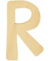 Houten letter r 6 cm