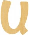 Houten letter u 6 cm