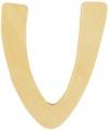 Houten letter v 6 cm
