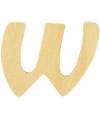 Houten letter w 6 cm