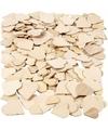 Houten mozaiek hartjes 60 stuks