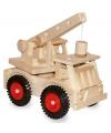 Houten speelgoed kraanwagen
