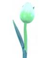 Houten tulp op steel groen 35 cm
