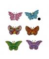 Houten vlinder magneet blauw