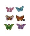 Houten vlinder magneet bruin
