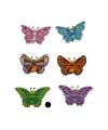 Houten vlinder magneet groen