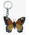 Houten vlinder sleutelhanger