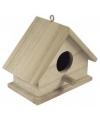 Houten vogelhuis 11 cm