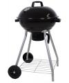Houtskool barbecue zwart 87 cm