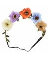 Ibiza haarband met gekleurde bloemen