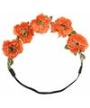 Ibiza haarband met oranje bloemen