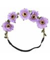 Ibiza haarband met paarse bloemen