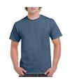 Indigoblauw katoenen shirt voor volwassenen