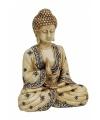 Indische boeddha beeldje beige 16 cm