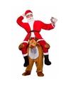 Instap kostuum kerstman op rendier