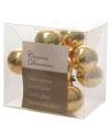Insteek kerstballetjes goud 2 cm 10 stuks