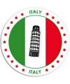 Italie sticker rond 14 8 cm