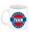 Ivan naam koffie mok beker 300 ml