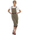 Jaren 40 landgirl kostuum
