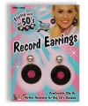 Jaren 50 lp oorbellen