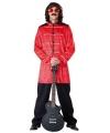 Jaren 70 pop kostuum rood