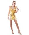 Jaren 80 popster kostuum goud