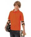Jongens poloshirt oranje