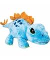 Jumbo dino knuffel stegosaurus blauw 65 cm