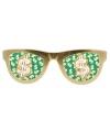 Jumbo dollar bril goud