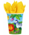 Jungle feestbekers 266 ml