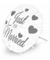 Just married ijsparasols groot 28 cm