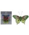 Jute vlinder clips set van 3 stuks