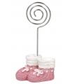 Kaarthouder roze babyschoentjes