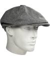 Katoenen flat cap licht grijs