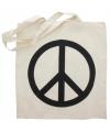Katoenen tas peace teken