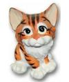 Katten beeldje 13 cm bruin