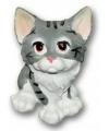 Katten beeldje 13 cm grijs