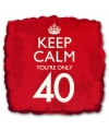 Keep calm folie ballon 40
